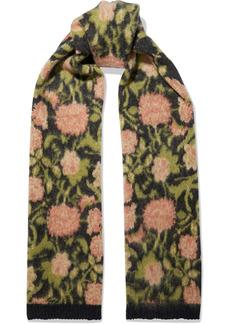 Paco Rabanne Woman Jacquard-knit Mohair-blend Scarf Black