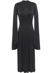 Paco Rabanne Woman Pleated Stretch-jersey Midi Dress Black