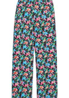 Paco Rabanne Woman Printed Cotton-blend Bootcut Pants Multicolor