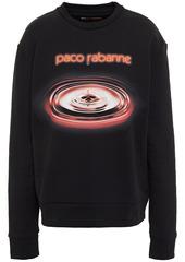 Paco Rabanne Woman Printed Cotton-fleece Sweatshirt Black