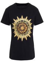 Paco Rabanne Woman Printed Cotton-jersey T-shirt Black