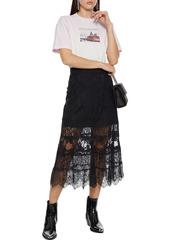 Paco Rabanne Woman Printed Dégradé Organic Cotton-jersey T-shirt Lilac