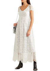 Paco Rabanne Woman Scalloped Chantilly Lace Maxi Dress Ivory