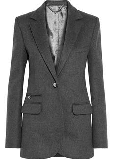 Paco Rabanne Woman Wool-blend Felt Blazer Dark Gray