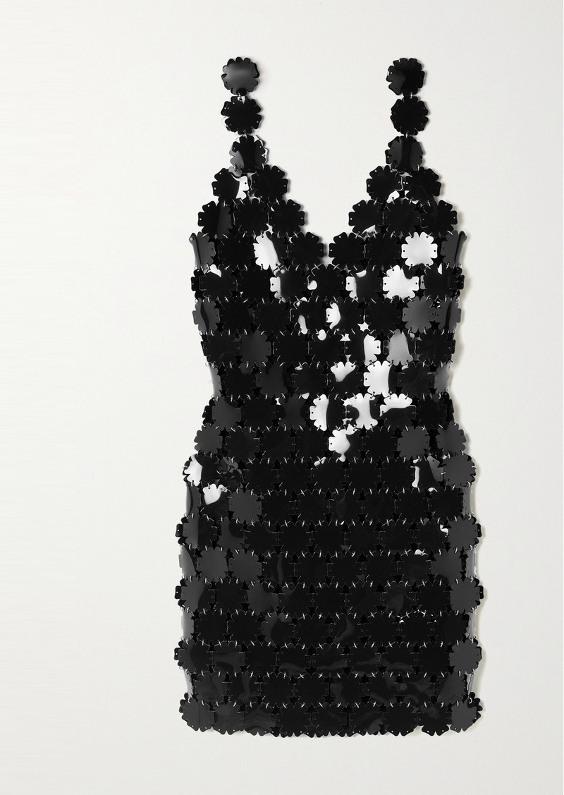 Paco Rabanne Paillette-embellished Chainmail Mini Dress