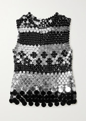 Paco Rabanne Paillette-embellished Chainmail Tank