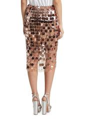 Paco Rabanne Paillette Pencil Skirt