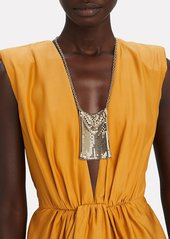 Paco Rabanne Pixel Mesh Pouch Necklace