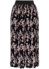 Paco Rabanne pleated floral midi skirt