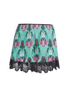 Paco Rabanne Printed Crepe De Chine Mini Shorts