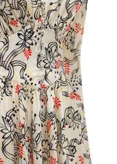 Paco Rabanne Printed Light Satin Midi Dress