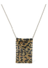 Paco Rabanne Printed Mini Mesh Leopard Necklace