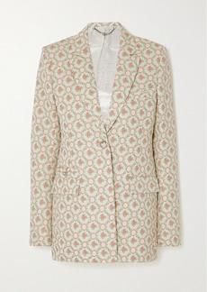 Paco Rabanne Quilted Cotton-blend Floral-jacquard Blazer