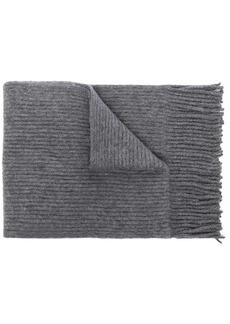 Paco Rabanne ribbed-knit fringe scarf