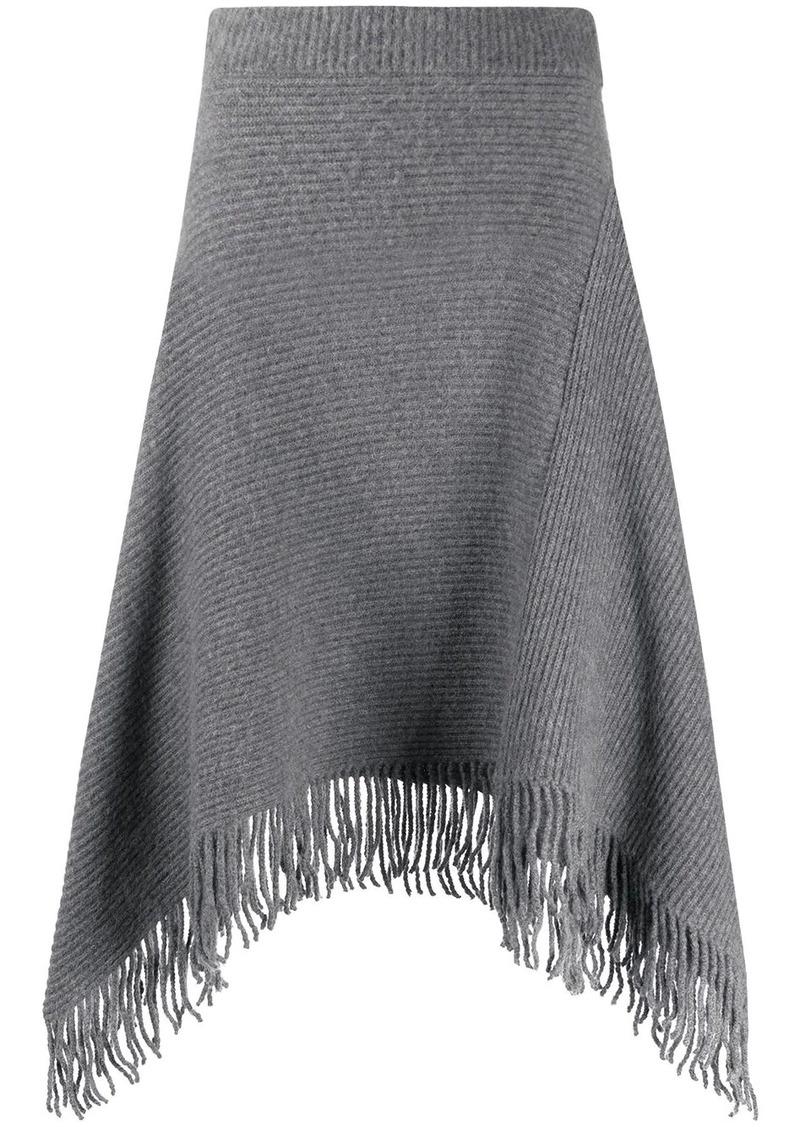 Paco Rabanne ribbed knit midi skirt