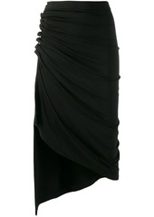 Paco Rabanne ruched asymmetric skirt