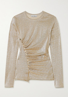 Paco Rabanne Ruched Stretch-lurex Top