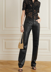 Paco Rabanne Scalloped Stretch-lace Blouse