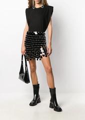 Paco Rabanne sequin embellished mini skirt