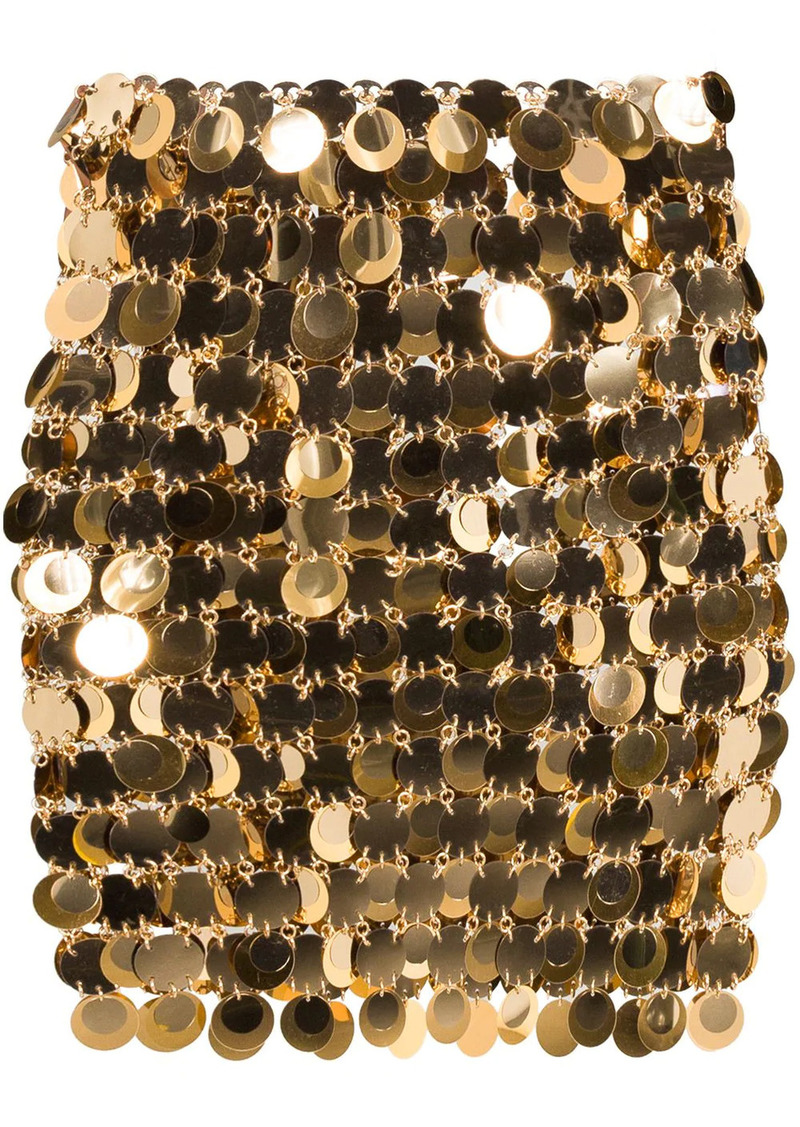 Paco Rabanne sequin-embellished mini skirt