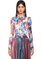 Paco Rabanne Shiny Printed Viscose Shirt