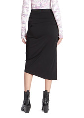 Paco Rabanne Side Ruched Pencil Skirt