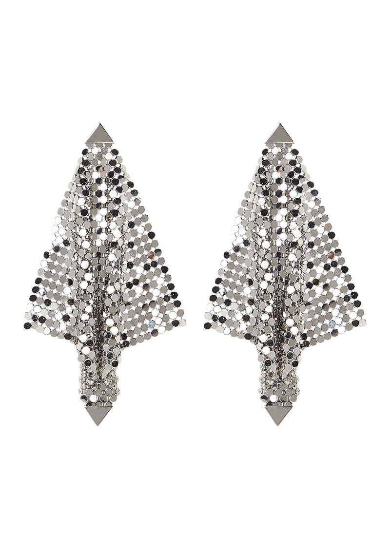 Paco Rabanne Silver Mesh Chainmail Earrings