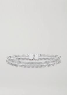 Paco Rabanne Silver-tone Crystal Belt