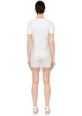 Paco Rabanne Soft Plastic & Leather Discs Dress