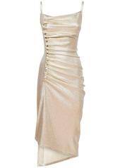 Paco Rabanne Stretch Lurex Jersey Dress
