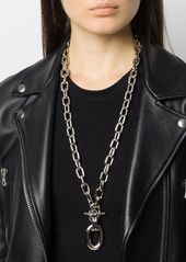 Paco Rabanne toggle chain pendant necklace