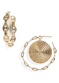 Women's Paco Rabanne Eight Nano Medallion Hoop Earrings