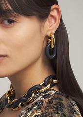 Paco Rabanne Xl Link Chunky Hoop Earrings