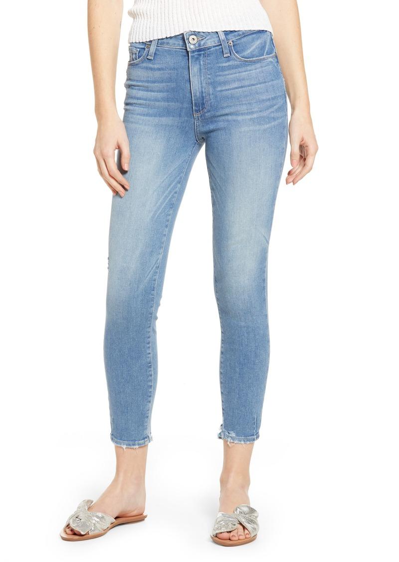 PAIGE Hoxton Transcend Vintage High Waist Crop Skinny Jeans (Atterbury)