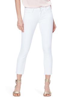 PAIGE Skyline Crop Raw Hem Skinny Jeans (Crisp White) (Nordstrom Exclusive)
