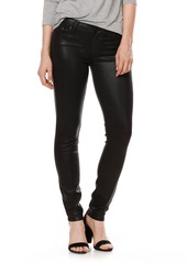 PAIGE Transcend - Verdugo Coated Skinny Jeans (Luxe Black)