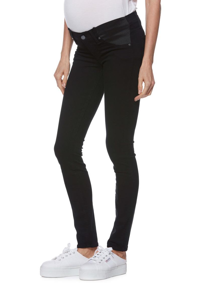PAIGE Transcend Verdugo Skinny Maternity Jeans (Black Shadow)