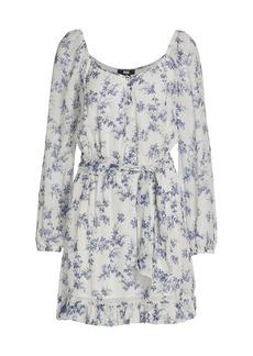 Paige Kiki Lilac Silk Mini Dress