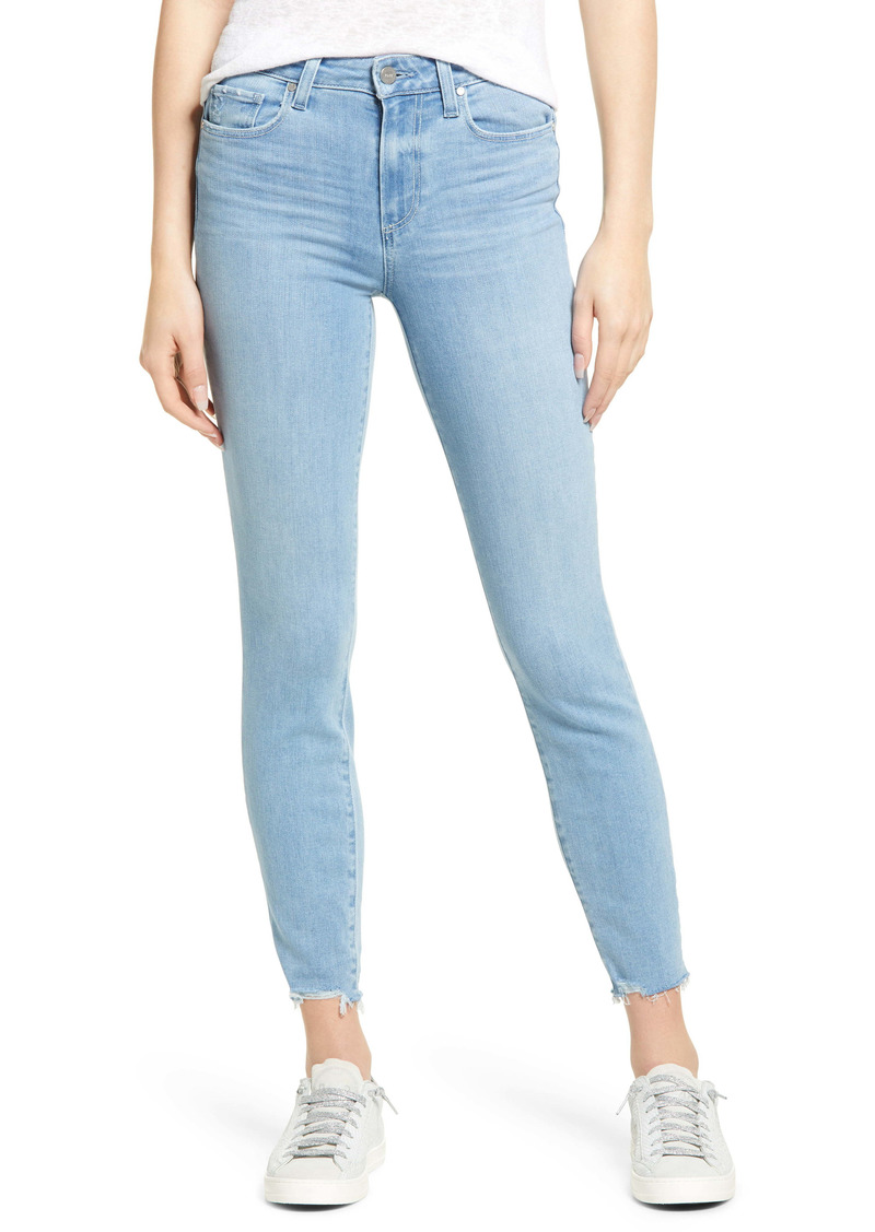 PAIGE - Transcend Hoxton High Waist Rockslide Hem Ankle Skinny Jeans (Jama)