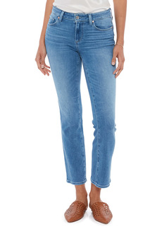 PAIGE Amber Ankle Straight Leg Jeans (Sea Water Distressed)
