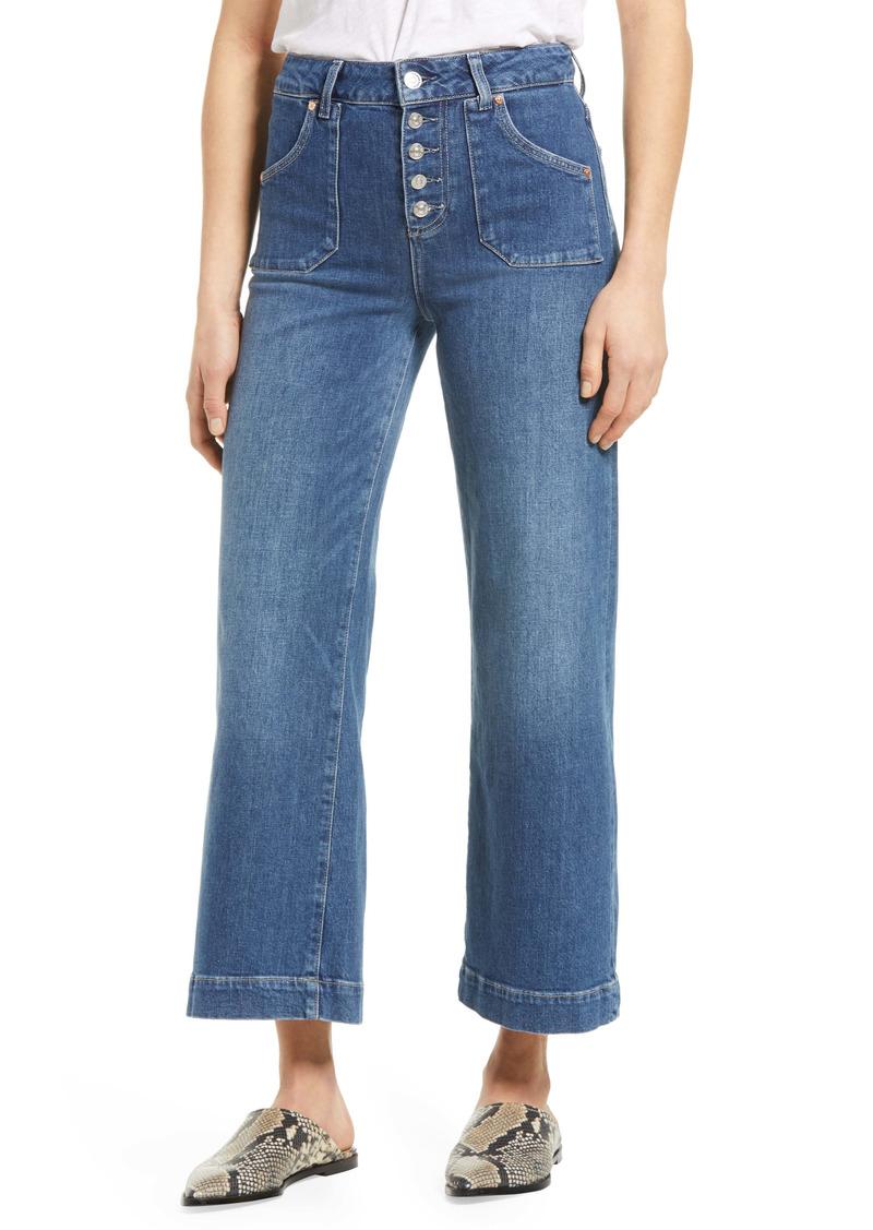 PAIGE Anessa High Waist Button Fly Wide Leg Jeans (Mirella)