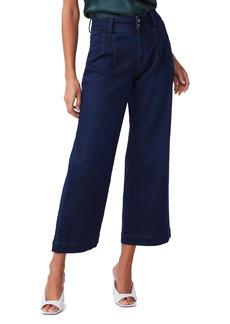 PAIGE Anessa High Waist Dart Front Crop Wide Leg Jeans (Lacey)