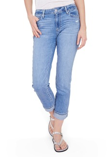 PAIGE Brigitte High Waist Slim Fit Boyfriend Jeans (Folk Distressed)