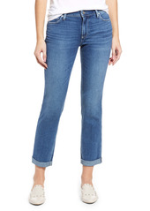 PAIGE Brigitte Raw Hem Slim Boyfriend Jeans (Cabbie)