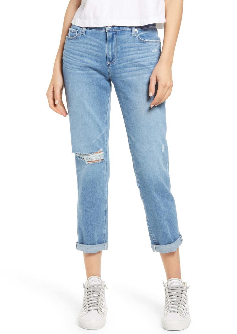 PAIGE Brigitte Ripped Boyfriend Jeans (Big Dipper Destructed)