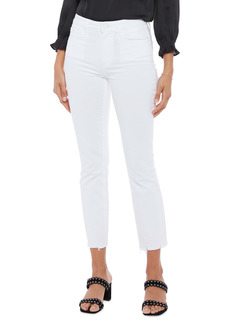 PAIGE Cindy High Waist Raw Hem Ankle Jeans (Crisp White)