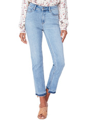 PAIGE Cindy High Waist Split Release Hem Ankle Straight Leg Jeans (Marienne)