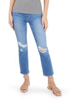 PAIGE Cindy Ripped Crop Straight Leg Jeans (Baazar)