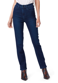 PAIGE Cindy Ultra High Waist Ankle Straight Jeans (NYC)