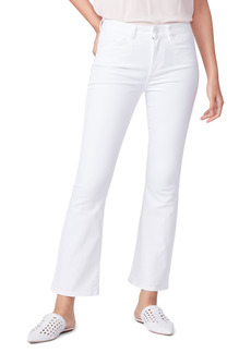 PAIGE Claudine Angled Pocket High Waist Ankle Flare Jeans (Crisp White)